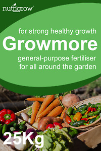 Nutrigrow Growmore General Purpose Fertiliser 25Kg - strong healthy growth 7-7-7