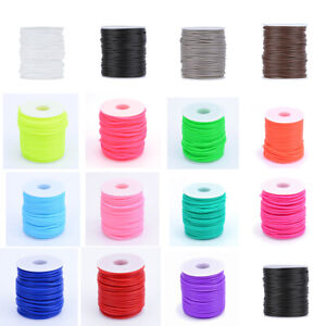 50m/roll Hollow Pipe PVC Tubular Rubber Cord Thread Wrapping Stringing Spool 2mm