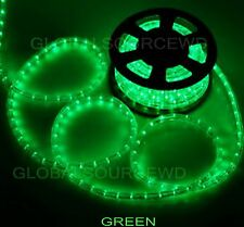 """150' FEET LED Rope Lights Green Color 1/2"""" /13MM 1656 LEDs With Accessories"""