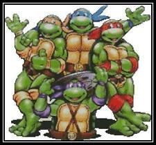 Teenage Mutant Ninja Turtles - Cross Stitch Chart/Pattern/Design/XStitch