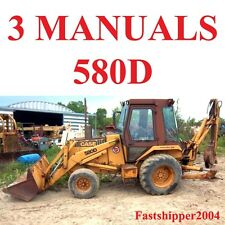 CASE 580 580D 580SD TRACTOR SERVICE MANUAL OPERATOR PARTS SUPER D LOADER BACKHOE