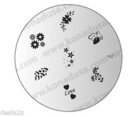 1 IMAGE PLATE M2 Konad Stamping Nail Art Design Nails