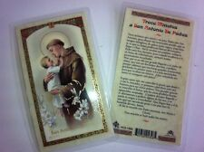 HOLY PRAYER CARDS FOR SAINT ANTHONY SET OF 2 IN SPANISH WITH FREE SHIP IN US!