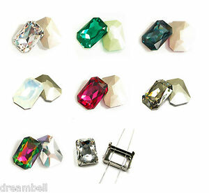 SWAROVSKI Crystal OCTAGON CABOCHON STONE Element 4627 Many Color / Settings