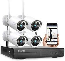 SmartSf 8Ch 1080P Wifi Wireless Home Security Camera System 8Ch Nvr Cctv Ir Cut