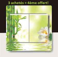 "Autocollant Interrupteur ""Bamboo Lotus ZEN"" Switch Sticker Prise Déco Murale"