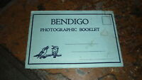 OLD AUSTRALIAN POSTCARD VIEW FOLDER. FROM THE 1940s BENDIGO VICTORIA