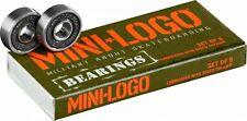 Mini Logo Precision Skate Rated Skateboard and Longboard Bearings (Pack of 8)