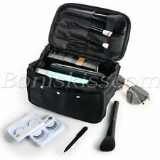 Travel Makeup Toiletry Cosmetic Case Organizer Pouch Storage Bag With Mirror