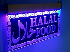 H021 Flashing Quality Halal Food Led Signs Open Neon Light Islamic Restaurants 1