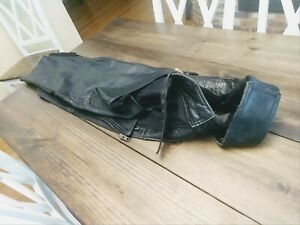 Leather Gallery Motorcycle Riding Leather Biker Chaps Men's Large black used