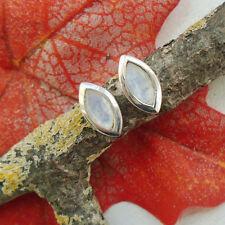 Mondstein, schlicht, modern, neu, Ohrstecker, Ohrringe, 925 Sterling Silber