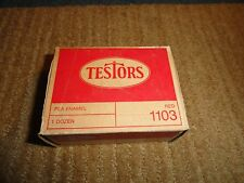 TESTORS VINTAGE UNOPENED BOX OF 1 DOZEN BOTTLES OF RED PLA ENAMEL PAINT