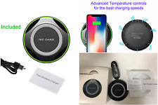 New Fast Wireless Charging Pad for Apple iPhone 8 & for Samsung Phones.