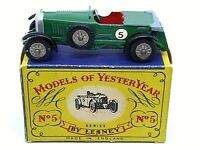 Matchbox Lesney Y5-1 Le Mans Bentley In Type 'A' Box (RARE GREY FOLDED ROOF)