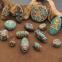 Retro Brass Nepal Spacer Beads Charms For DIY Bracelet Necklace Jewelry Making
