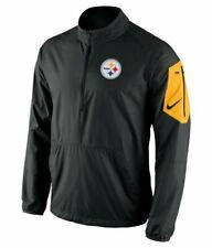 Pittsburgh Steelers Nike Lockdown 1/2 Zip Pullover Jacket Men's XL Black