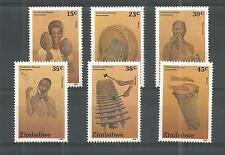 ZIMBABWE 1991 TRADITIONAL MUSIC INSTRUMENTS SG,804-809 UN/MM NH LOT 888A