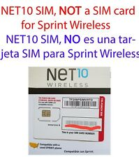 NET10 Wireless Standard / Mini / Micro / Nano SIM card for 4G LTE Sprint phones