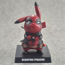 Pokemon's Detective Pikachu Deadpool Cosplay PVC Figure Statues Model Toys Gifts