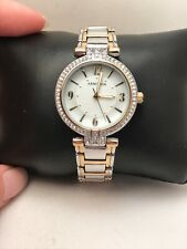 NEW Armitron Women's watch 70 Swarovski crystals MOP dial 75/5377MP-H79