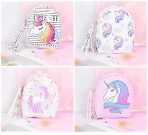 Unicorn Rainbow Coin Purse Mini Backpack Keyring Holder Wallet Stocking Filler