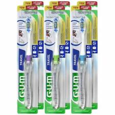 GUM Folding Travel Toothbrush (Pack of 6) Soft Bristle