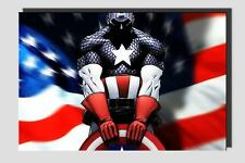 Captain America cotton 370gsm giclee Canvas Art Print (no framed) 24x16""