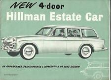 ROOTES HILLMAN (MINX) 4-DOOR ESTATE CAR 1494cc SALES BROCHURE LATE 50's