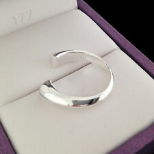 925 Sterling Silver Plated SIMPLE RING Thumb/ Wrap Ring ADJUSTABLE Gift