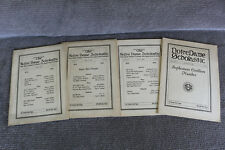 *1928* Vintage Lot of 4 The Notre Dame Scholastic Publications w/ Ads Rare HTF
