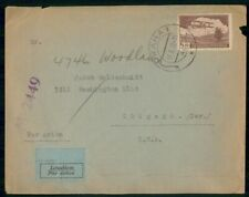 CZECHOSLOVAKIA COMMERCIAL 1938 COVER PRAHA TO CHICAGO IL USA