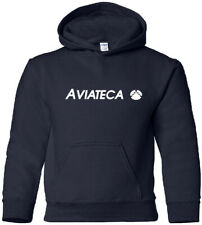 Aviateca Vintage Logo Guatemalan Airline Hooded Sweatshirt HOODY