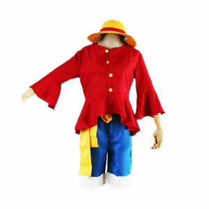 Anime ONE PIECE 2nd generation Monkey D Luffy Cosplay Costume After 2 Years