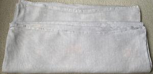2 Ecru Linen Pillowcases