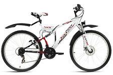 "Vtt tout suspendu 21 vit 26"" Zodiac blanc rouge neuf TC 48 cm KS Cycling 574M"
