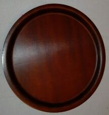 Circular (30cm) brown laminate cafe/serving/dinner/breakfast trays