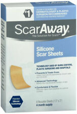 Scaraway 1.5 X 3 Reusable Washable Silicone Scar Sheets,8 counts/ Ex Date 4-2023