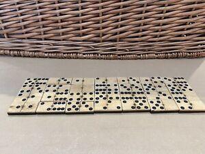 Vintage Dominoes Bone & Ebony Pinned
