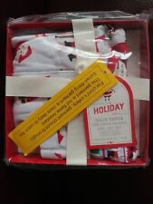 Pottery Barn Kids Jolly Santa Nursery One Piece Pajama & Hat Set 12-18 Month NIB