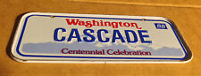 CASCADE Washington - Vintage 1988 Mini License Plate - Name Tag  Bicycle Plate!