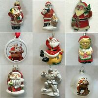 S41 CERAMIC & GLASS SANTA ORNAMENTS Each priced separately MANY CHOICES Claus