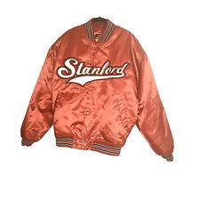 Stanford Cardinal Satin Jacket Colosseum Brand Size Large Excellent Condition