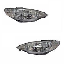 Für Peugeot 206 cc 7/2003-2009 Scheinwerfer 1 Paar O/S & n / S