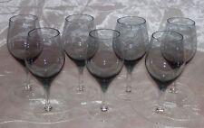 Royal Moselle Nova-Smoke Claret wine Glasses -Set 7 Smoke Bowl/Clear Stem -EUC