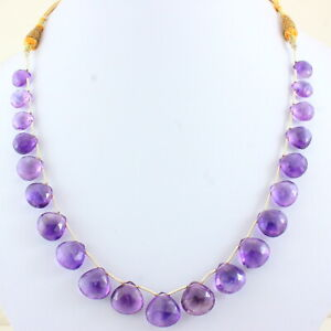 Necklace Natural Purple Amethyst Gemstone Jewelry Faceted Beaded Handmade