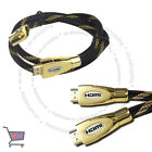 Premium HDMI Cable v2.0 Gold High Speed HDTV UltraHD HD 2160p 4K 3D 1 Meter