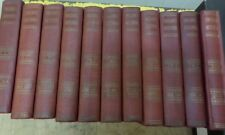 CONSOLIDATED ENCYCLOPAEDIA IN 10 VOLS + 1938 REVIEW VOLUME - LEATHER BOUND GOOD