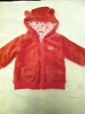 Baby Jacket Size 68 Pink Knit Soft Hooded (B33)