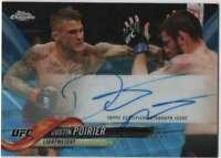 2018 Topps Chrome UFC Autograph Refractor Blue Wave AUTO /75 DP Dustin Poirier